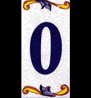 Zahlenfliese 0 Catalan Mini