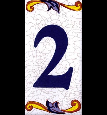 Zahlenfliese 2 Catalan Mini