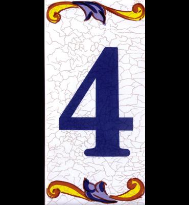 Zahlenfliese 4 Catalan Mini