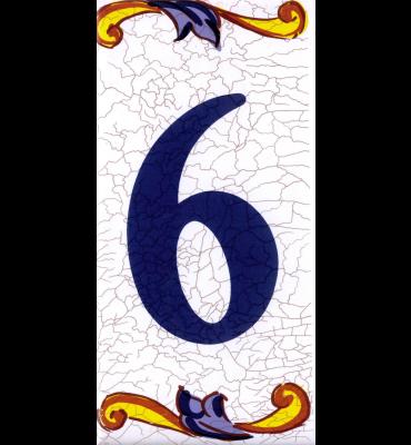 Zahlenfliese 6 Catalan Mini