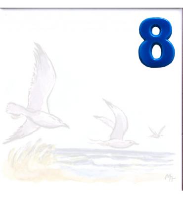 Zahl 8 für Bildfliese