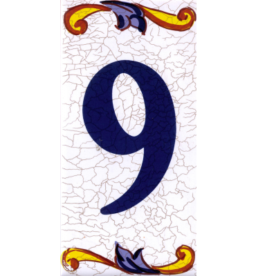 Zahlenfliese 9 Catalan Mini