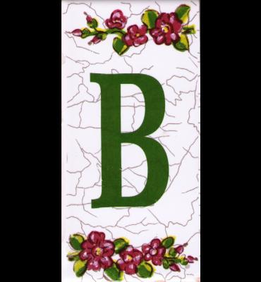 Buchstabe B Dekor Butterfly