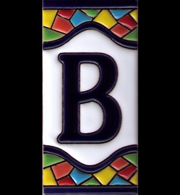 Buchstabe B Gaudi Dekor