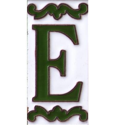 Buchstabe E Dekor Verde