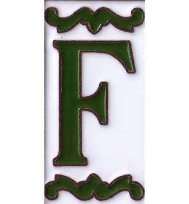 Buchstabe F Dekor Verde