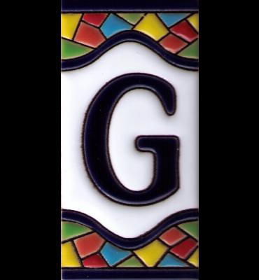 Buchstabe G Gaudi Dekor