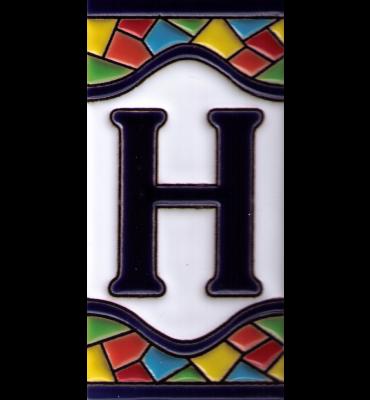 Buchstabe H Gaudi Dekor