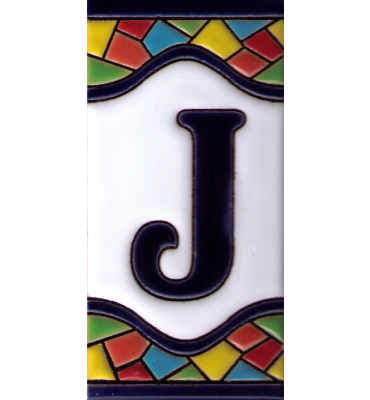Buchstabe J Gaudi Dekor