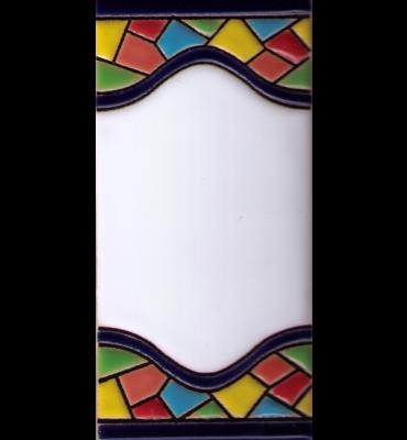 Blanko Fliese Gaudi Dekor