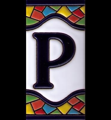 Buchstabe P Gaudi Dekor