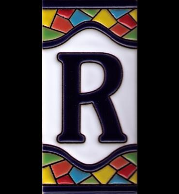 Buchstabe R Gaudi Dekor