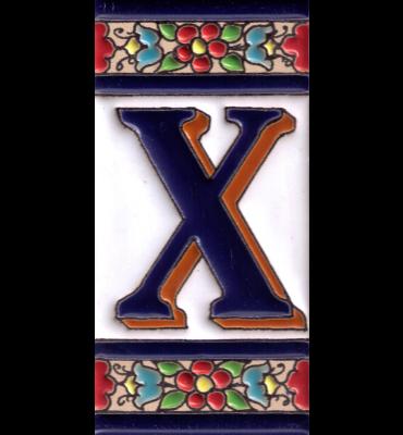 Buchstabe X Blumen Dekor