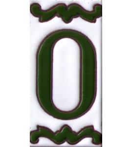 Zahl 0 Dekor Verde