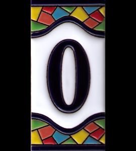 Zahl 0 Gaudi Dekor