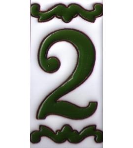 Zahl 2 Dekor Verde