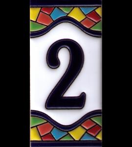 Zahl 2 Gaudi Dekor