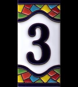 Zahl 3 Gaudi Dekor