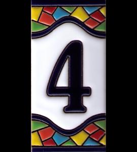 Zahl 4 Gaudi Dekor
