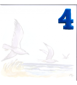 Zahl 4 für Bildfliese