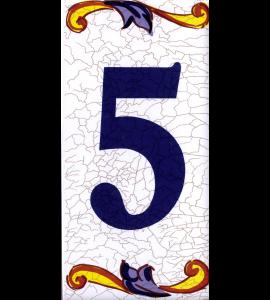 Zahl 5 in Catalan Groß