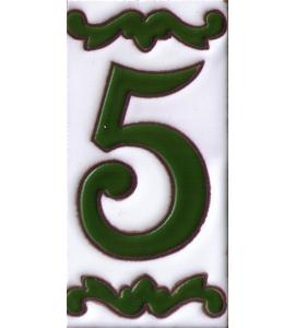 Zahl 5 Dekor Verde