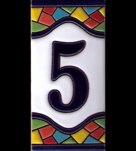 Zahl 5 Gaudi Dekor