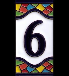 Zahl 6 Gaudi Dekor
