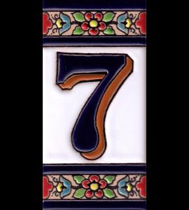 Zahl 7 Blumen Dekor