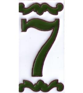 Zahl 7 Dekor Verde