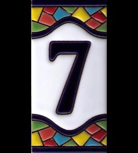 Zahl 7 Gaudi Dekor