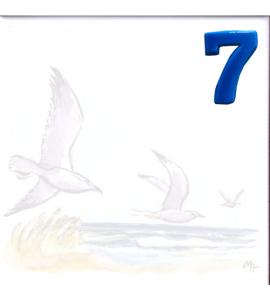 Zahl 7 für Bildfliese