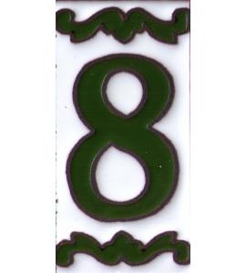 Zahl 8 Dekor Verde