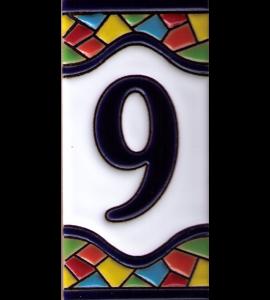 Zahl 9 Gaudi Dekor