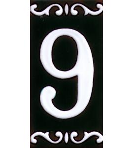 Zahl 9 Dekor Cume
