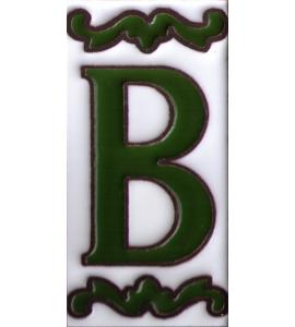 Buchstabe B Dekor Verde