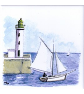 Bildfliese Leuchtturm