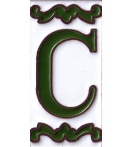 Buchstabe C Dekor Verde