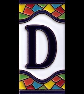 Buchstabe D Gaudi Dekor
