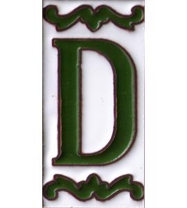Buchstabe D Dekor Verde