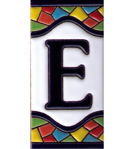 Buchstabe E Gaudi Dekor