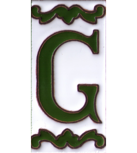 Buchstabe G Dekor Verde