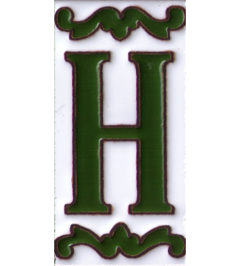 Buchstabe H Dekor Verde
