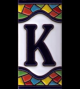 Buchstabe K Gaudi Dekor
