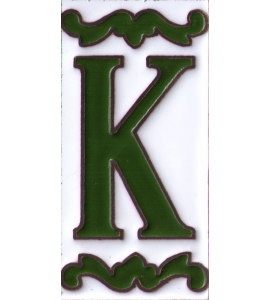Buchstabe K Dekor Verde