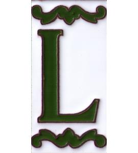 Buchstabe L Dekor Verde