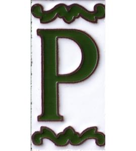 Buchstabe P Dekor Verde