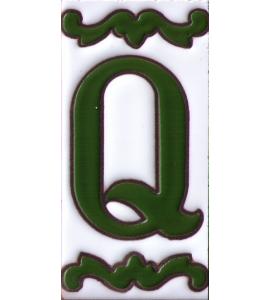 Buchstabe Q Dekor Verde