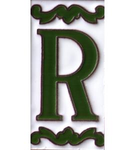 Buchstabe R Dekor Verde