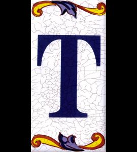 Buchstabe T Catalan Groß